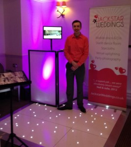 Jack from Jackstar Weddings at a Wedding Fayre in 2013.